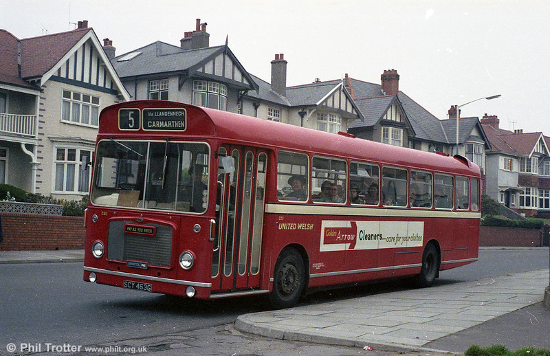 United Welsh 220 (SCY 463G), a Bristol RELL6G/ECW B53F which became SWT 620.