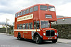 An offside view of preserved 1955 AEC Regent V/Weymann H33/26RD 447 (MCY 407) recreating the past at Llanelli Station.