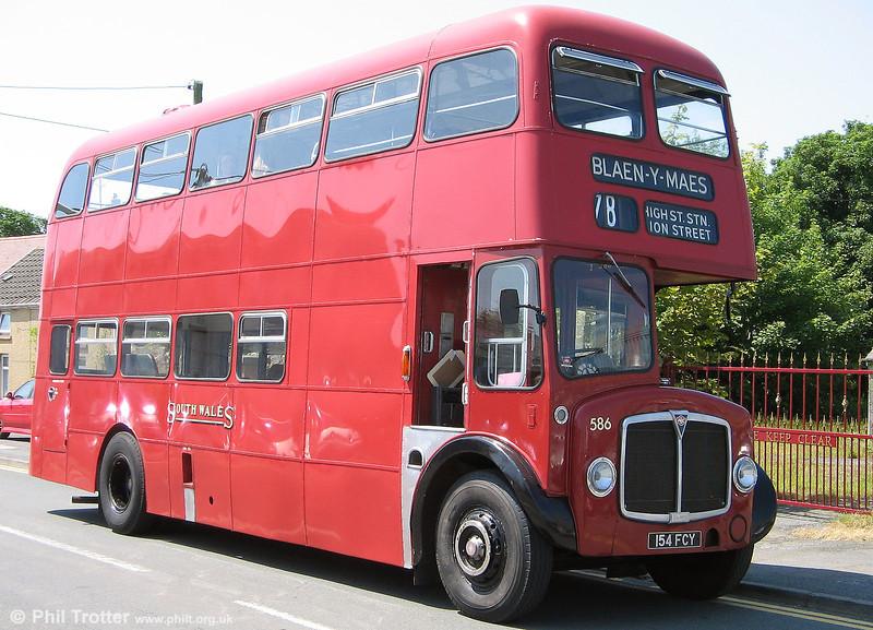 Preserved AEC Regent V/Willowbrook H39/32F 586 (154 FCY).