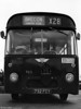 Marked up for service X28 to Brecon (including a blue destination blind insert) is 963 (732 FCY) a 1963 AEC Reliance/Marshall B53F.
