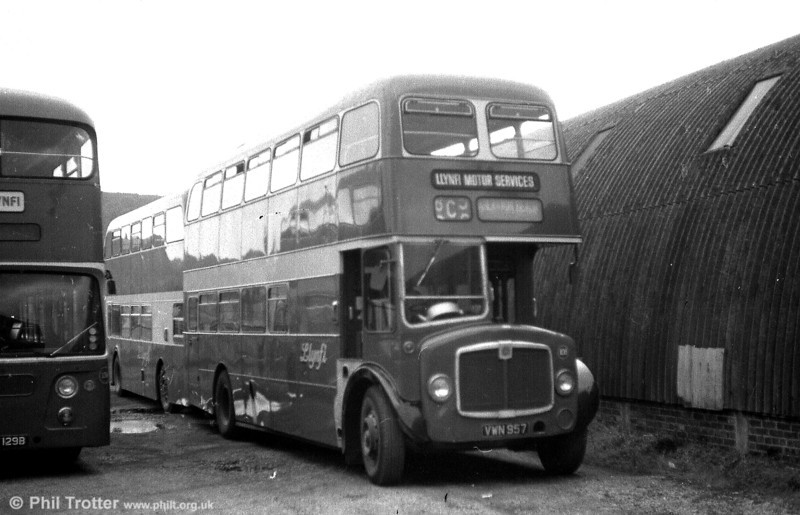 Former 541 (VWN 957), a 1960 AEC Regent V/Willowbrook H39/32F seen after sale to Llynfi, Maesteg.
