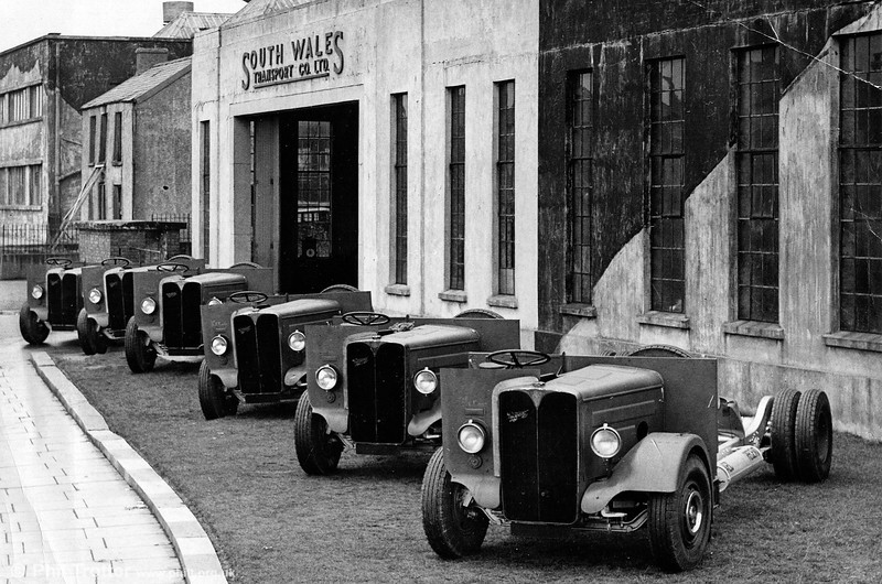 Another view of some of the AEC Regent II chassis which were delivered unbodied after World War II.
