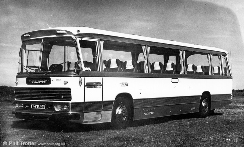 1055 (RCY 55H) was a 1969 AEC Reliance/Duple C44F.