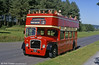 Preserved former United Welsh Bristol LD6G/ECW 323 (SWN 159) in service on park tours at Pembrey Country Park, Llanelli. The bus had latterly been used by SWT as a tree-lopper, hence the lack of a roof.