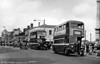 A wonderful scene at High Street, Swansea led by 264 (DWN 641) a 1946 AEC Regent II/Weymann H30/26R. Significantly, 264 was SWT's first post-war vehicle.