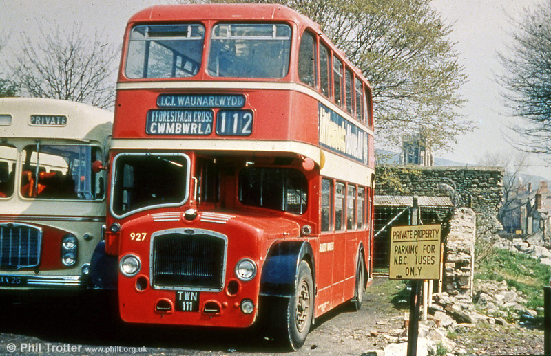 927 (TWN 111) was a 1959 Bristol LD6G/ECW H33/27RD, formerly with United Welsh.