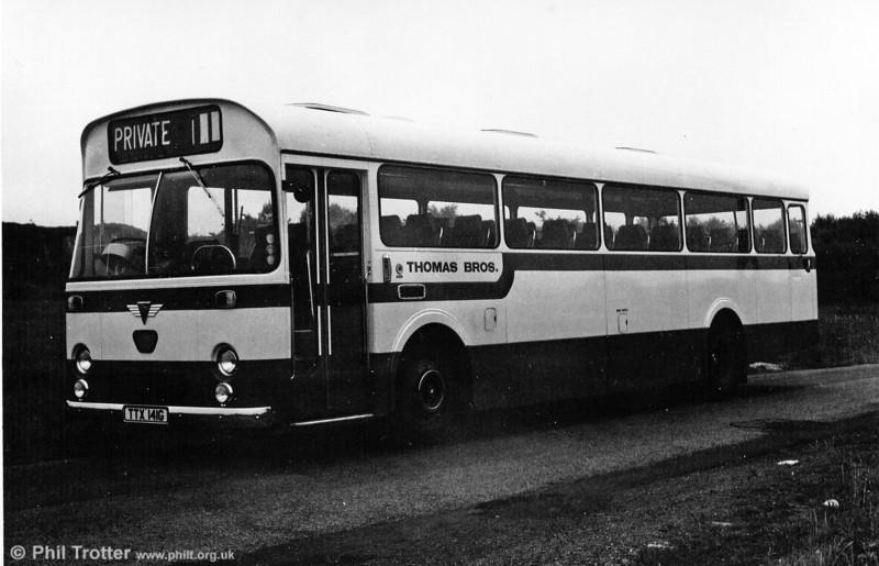 Thomas Bros. (Port Talbot) 1969 AEC Reliance/Marshall DP49F TTX 141G.
