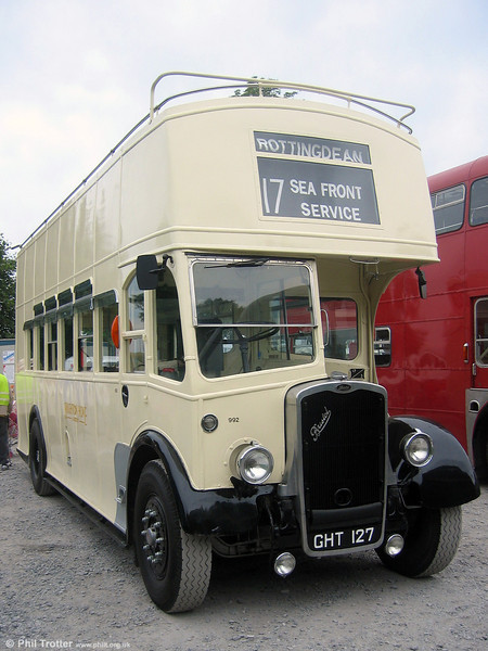 GHT 127 started life with Bristol Omnibus, later passing to Brighton, Hove & District. Thomas Bros (Port Talbot) Limited, ran it between 1966 and 1969, when it was named 'Sandfields Belle'. It is seen here at Swansea in June 2006.