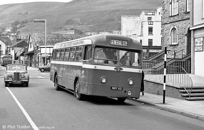 NNY 62 was a 1953 Leyland Tiger Cub/Weymann B44F which had left the fleet by the time SWT took over, although sister NNY 58 became no. 301.