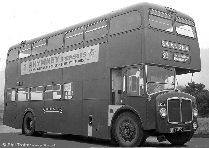 1960 AEC Bridgemaster 1212 (WCY 892) with Park Royal H43/29F.