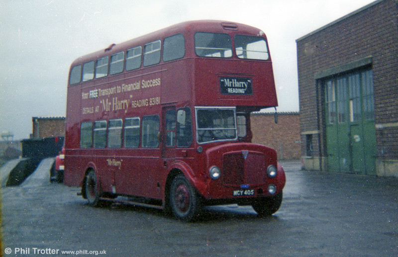 1955 AEC Regent V/Weymann H33/26R 44 (MCY 405 in later service with Smith, Reading.)
