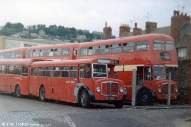AEC Regent V/Roe B37F  39 (283 DWN), alongside two of the former Oxford AEC REgent Vs at Brunswick St.