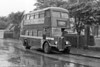 There's weather...  1951 AEC Regent III/Weymann H30/26R 375 (GWN 87) on a very wet day in Llanelli.