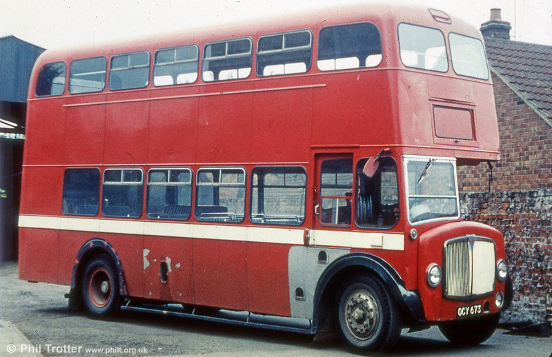 Former AEC Regent V/Weymann H32/28R 490 (OCY 673) with Scutt, Owston Ferry.