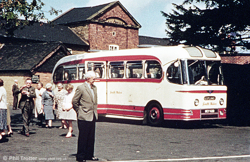 Another view of 1956 AEC Reliance/Weymann C37F 1028 (NCY 622) on tour in Scotland.