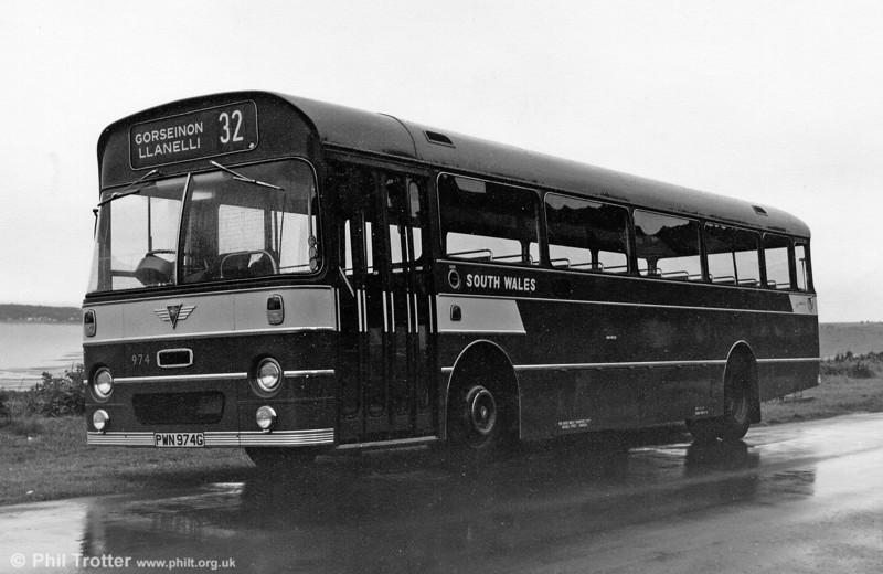 974 (PWN 974G), a 1970 AEC Reliance/Marshall B52F.
