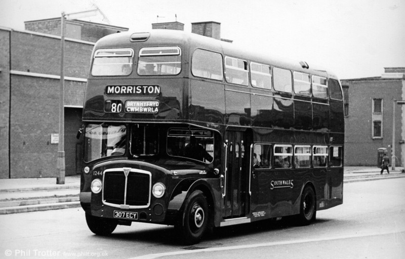 Again taken in Orchard Street, Swansea is 1244 (307 ECY) an AEC Renown/Park Royal H39/32F.