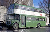 AEC Regent V/Willowbrook H39/32F 601 (434 HCY) which, in 1969 was repainted in this green and white livery to commemorate the granting of city status to Swansea. The bus was later renumbered 801 and, subsequently, 851.
