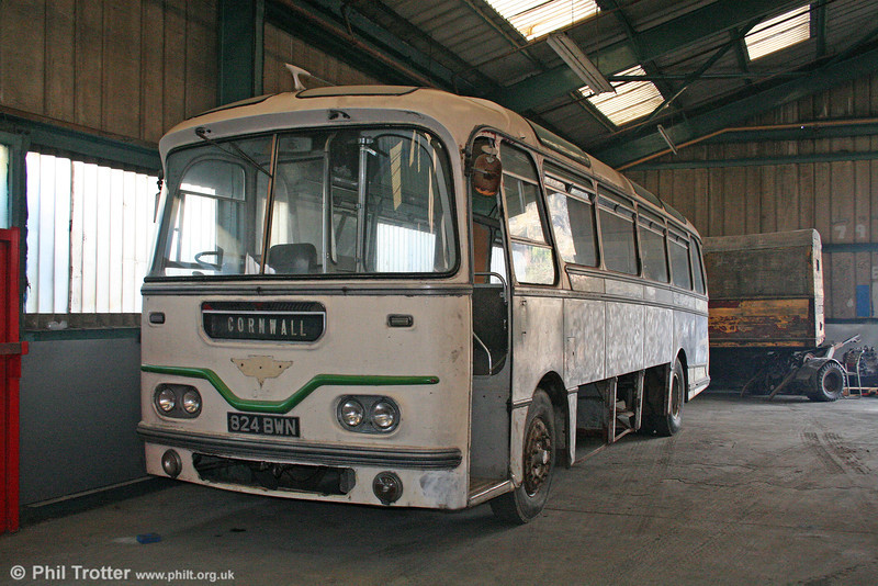 Preserved AEC Reliance/Harrington Cavalier formerly 1047 (824 BWN) on 27th December 2005.
