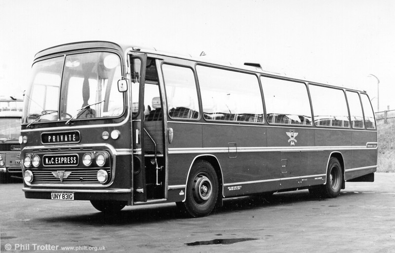 N&C AEC Reliance/Plaxton C51F UNY 831G which became SWT 172 at the merger.