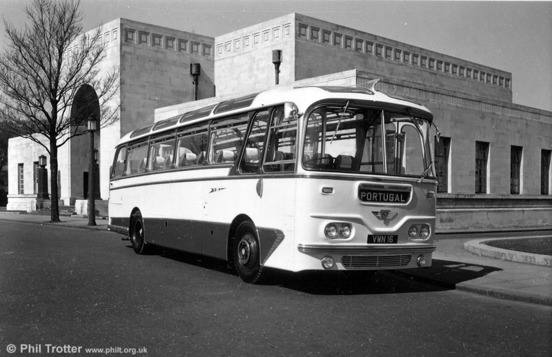 Another view of 1042 (VWN 16), a 1960 AEC Reliance/Harrington Cavalier C37F at Swansea Guildhall.