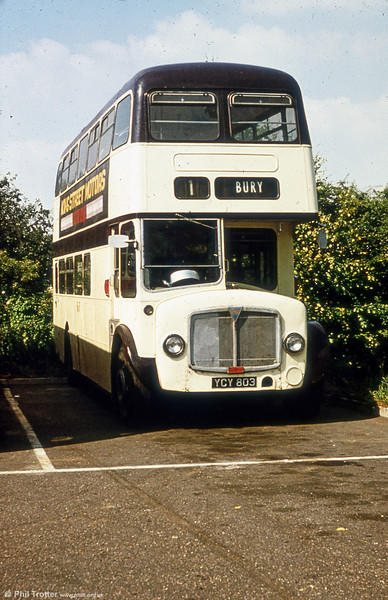 550 (YCY 803) a 1961 AEC Regent V/Willowbrook H39/32F in later service with Burwell & District.