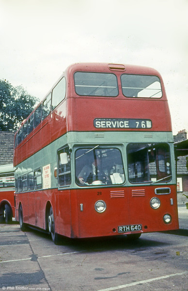 Former James Leyland Atlantean PDR1/MCCW L39/34F 1230 (RTH 640) in a later life with City of Oxford Motor Services.