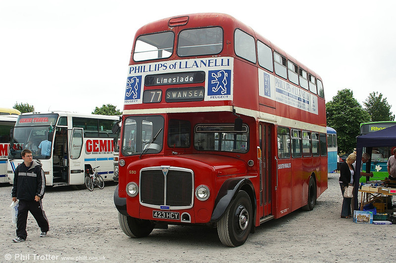 1964 AEC Regent V/Weymann H39/32F 590 (423 HCY) at a Swansea Transport Rally.