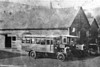 One of the earliest known pictures of SWT's Brunswick Street garage, Swansea. A pair of what are apparently AEC YCs in c.1920. At that time SWT had a large number of YCs, some acquired from East Kent - that nearest the camera may possibly be one of them. Also at that time SWT was changing from green to a red/cream livery. Clearly these two vehicles are in different liveries and it is possible that that nearest the camera might be in the green colour scheme, that behind it in red/cream.
