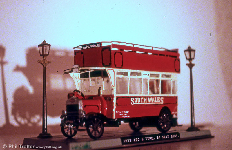 An attempt at modelling a 1924 AEC 403 with a Brush 54-seat open-top double-deck body.