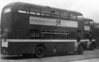 Its working days at SWT over and with fleetnames and numbers painted out, withdrawn AEC Regent V/Weymann H33/26R 483 (OCY 666) and a sister await their fate at Ravenhill Depot, Swansea, in 1967. 483 was later sold to S. Margo of Croydon and subsequently to Scutt of Owston Ferry.