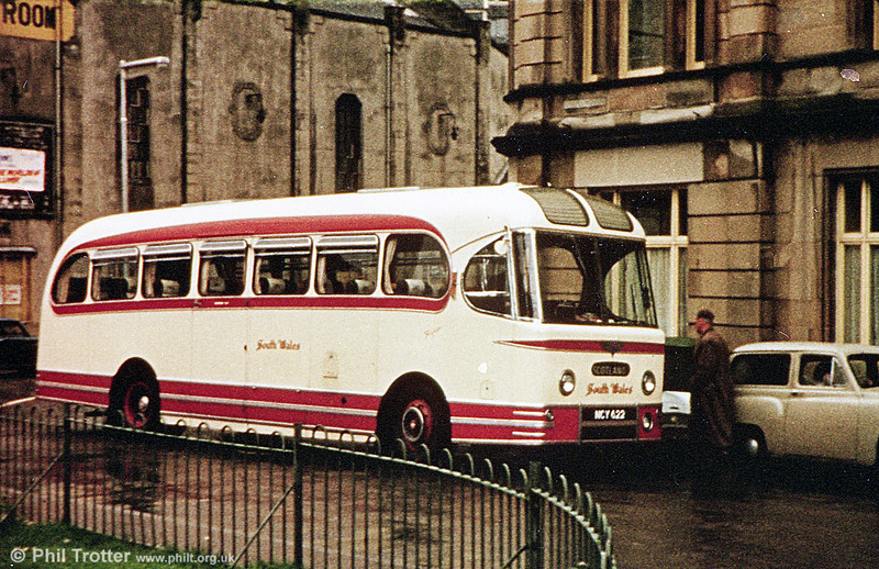 SWT's fleet of Weymann 'Fanfare' coaches were well known and played an important role in the company's extended tours programme, venturing as far as Austria and Czechoslovakia. This is 1028 (NCY 622) of 1956 on tour in Scotland.