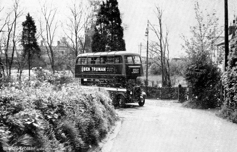 An unidentified AEC Regent II at Derwen Fawr in 1954.