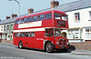 AEC Regent V/Willowbrook H39/32F 769 (9 BWN) illustrates the intermediate bright red and cream livery during layover time on the cross-Swansea service 40 at Manselton.
