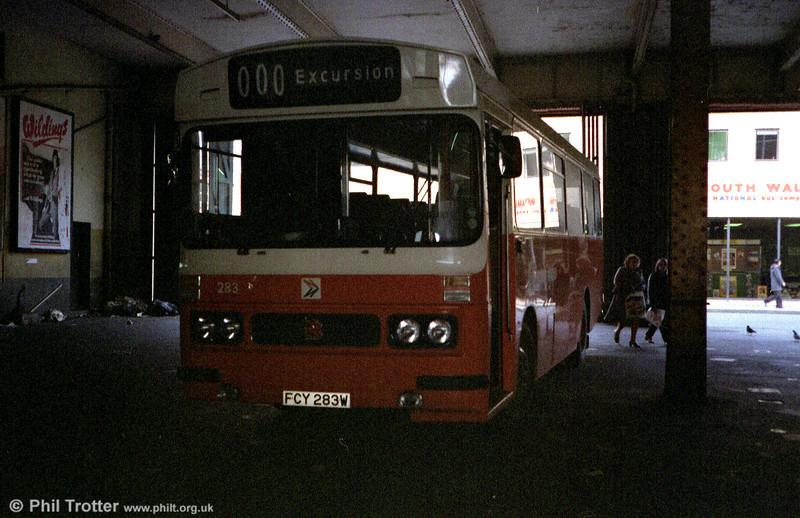 1981 Bedford YMQ/Duple DP45F 283 (FCY 283W).