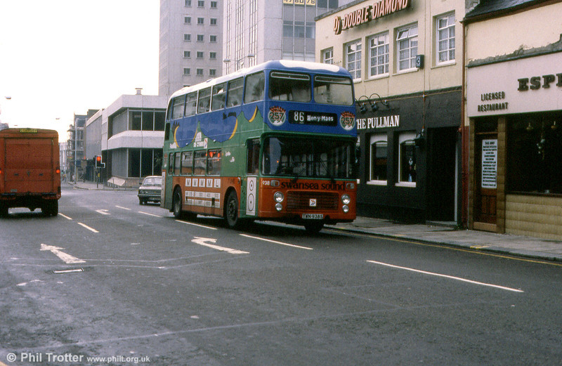 Bristol VRT SL3/ECW H43/31F 938 (TWN 938S) in a later Swansea Sound livery.