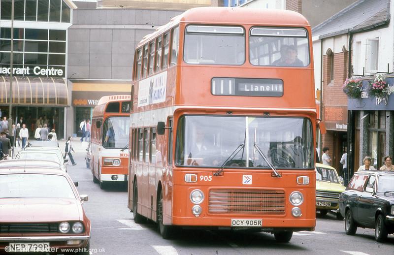 905 (OCY 905R) was the first of the Bristol VRT SL3/ECW H43/31F.
