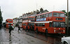 A wet morning at Bishop Gore School with Bristol VRT SL3/ECW H43/31F 982 (BEP 982V) and 'convertible' 932.