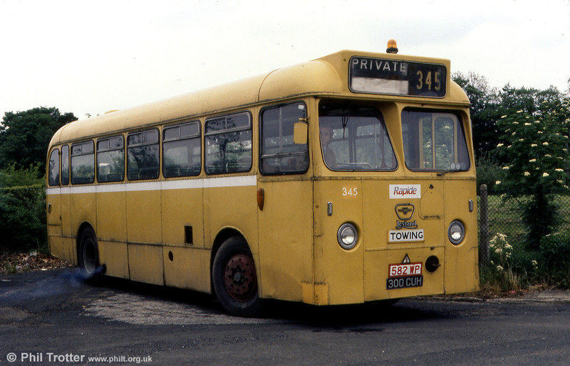 Leyland Tiger Cub/Marshall B45F 345 (300 CUH) seen after purchase for preservation.