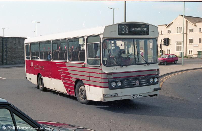 1981 Bedford YMQ/Duple DP45F 284 (FCY 284W).
