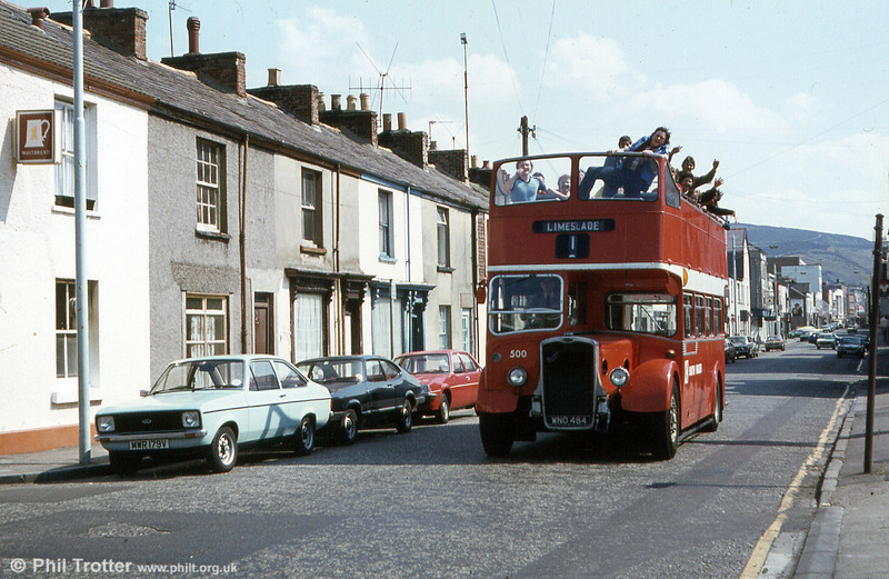 1953 Bristol KSW5G/ECW O33/28R 500 (WNO 484). This was obtained from Eastern National (2386) in 1974.