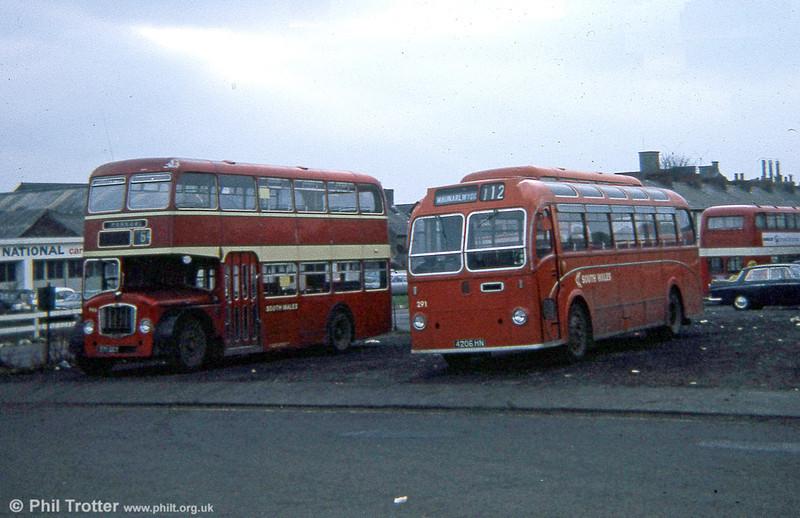 Former United Automobile Bristol MW6G/ECW DP45F 291 (4206 HN) in 1974.