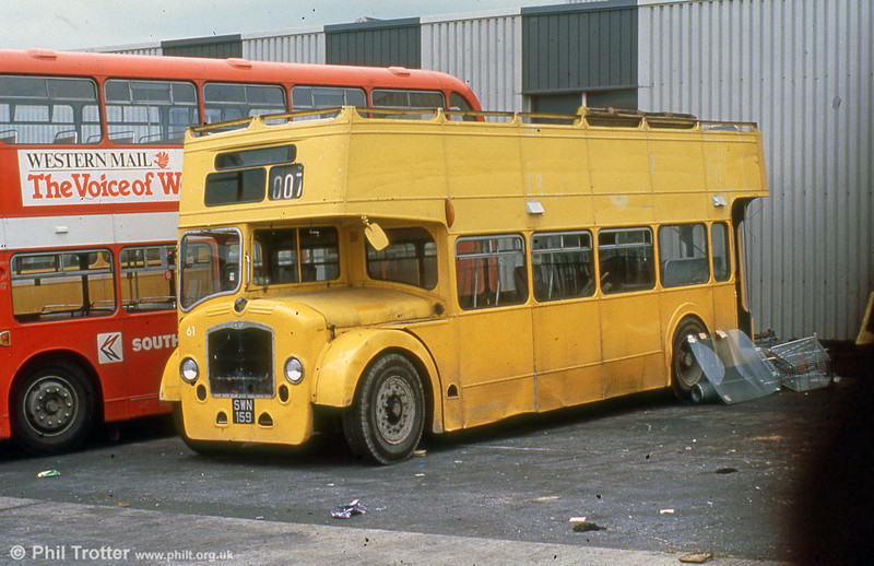Bristol LD6G/ECW 916 (SWN 159) after conversion to a tree lopper and numbered 61.