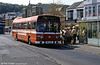 Leyland National B52F 732 (TCY 732M) at Oystermouth. This vehicle displays the later style of roof pod.