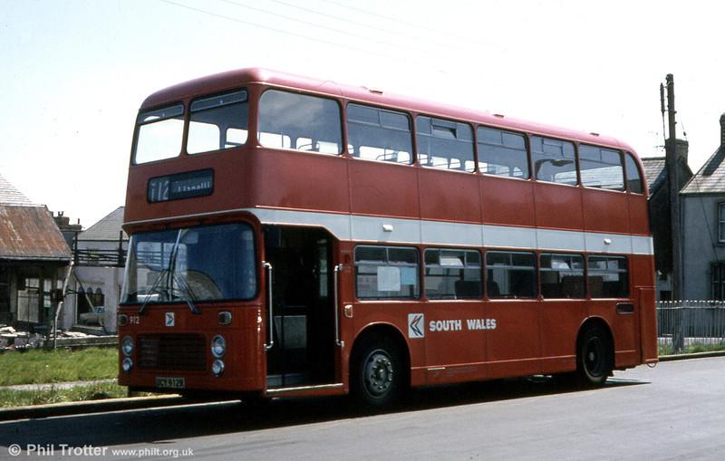 Bristol VRT SL3/ECW H43/31F 912 (OCY 912R) at Gorseinon.