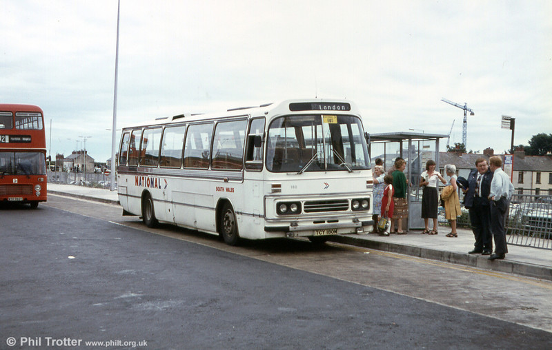 180 (TCY 180M) was an AEC Reliance/Duple C49F purchased in 1974.