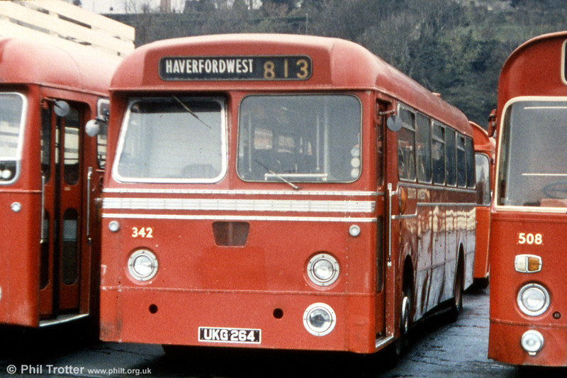 Another Haverfordwest resident was 342 (UKG 264), a 1964 Leyland Tiger Cub/Metro Cammell DP41F.