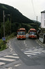 Leyland National B52Fs 806 (WWN 806T) and 803 (TWN 803S) at Cymmer.