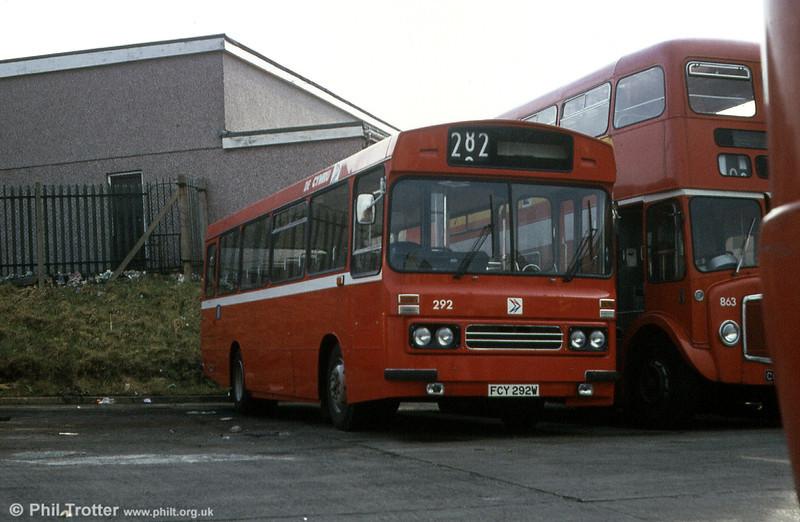 1981 Bedford YMQ/Duple B43F 292 (FCY 292W).