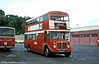 An unusual event during the autumn of 1980 was the allocation of 1964 Regent V 2D3RA/Weymann H39/32F 595 (428 HCY) to Haverfordwest for service, becoming the first AEC double decker to have worked there since Western Welsh days! 595 had a Weymann H39/32F body and during its Haverfordwest swansong even carried the depot's local identity fleetnames!